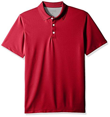 (Van Heusen Men's Air Short Sleeve Polo, Deep Rio Red, Large)
