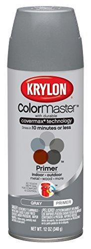 Krylon 51318 All-Purpose Gray Interior and Exterior Decorator Primer - 12 oz. Aerosol by Krylon