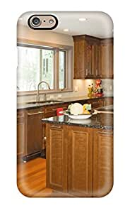 AuKAqSY3117ovOkB ElsieJM Brown Stained Wood Kitchen With Island Seating And Granite Countertops Durable Iphone 6 Tpu Flexible Soft Case