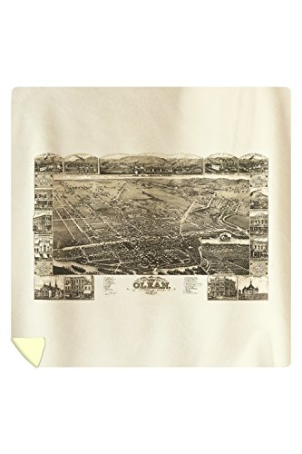 Olean, New York - Panoramic Map (88x88 Queen Microfiber Duvet Cover) (Olean New York compare prices)