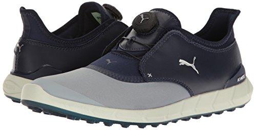PUMA Men's Ignite Spikeless Sport Disc Golf-Shoes, Bright Plasma-Peacoat, 11 Medium US