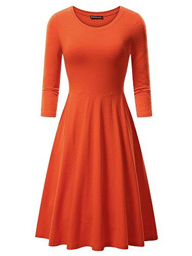 orange skater dress - 4