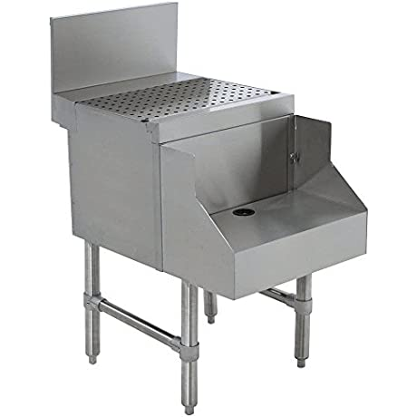 Advance Tabco PRDB 24 12 Prestige Series Stainless Steel Underbar Blender Station With Drainboard 12 X 30