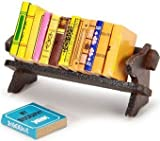 Darice Timeless Minis miniature books with a rack. 3 inches. 1 set per package. These traditional books are perfect for decorating schoolrooms and offices in doll houses and scenes!
