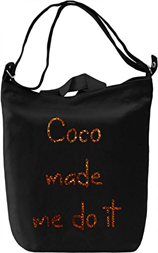 Coco made me Borsa Giornaliera Canvas Canvas Day Bag| 100% Premium Cotton Canvas| DTG Printing|