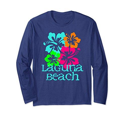 Laguna Long Sleeve (Unisex Laguna Beach Long Sleeve T-Shirt Tropical Tee Shirt 2XL Navy)