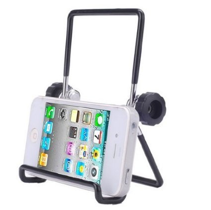 Universal Adjustable Portable Foldable Metal Holder / Stand for Cell Phones / Ipad Mini / Blackberry Playbook / Samsung Galaxy Tab / Tablet Pc -Black (Small Black)