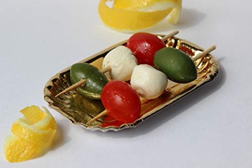 Bakers Bling Mini Gold Rectangle Party Plates for Desserts, Mini Pastries, Appetizers, Hot and Cold Hor d'oeuvres - Set of 50 Mini Plates