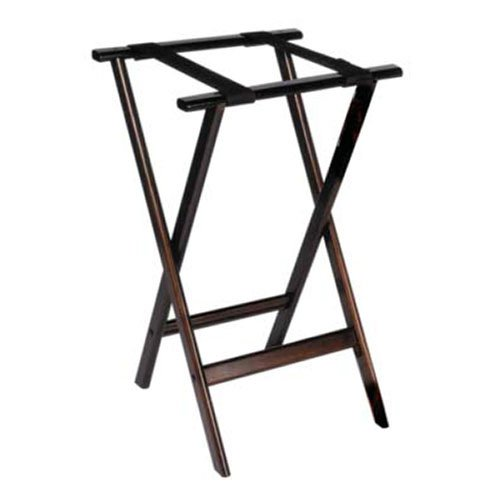 (Allied Buying Corp TSW-38 Wood Tray Stand - Deluxe Tall Height with Top Straps, 18