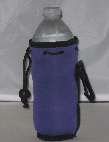 Water Bottle Cooler Insulator Neoprene with Snap, Purple