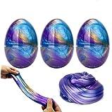 Luclay Galaxy Slime Slime con 3 Contenedores en Forma de Huevos y Remolino de Stress Relief DIY Juguetes para niños…