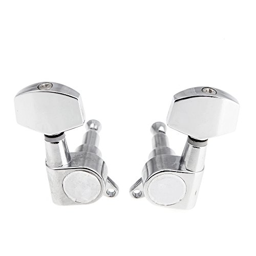 ammoon 3R 3L Chrome Electric Acoustic Guitar String Tuning Pegs Tuners Machine Heads by ammoon (Image #2)