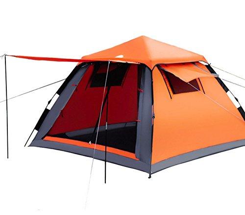 嬉しいです強打ことわざテント 3-4人用 ワンタッチテント 紐を引くだけの15秒設営! 軽量 防水 UV カット登山用 耐水圧 3000mm キャンプ アウトドア 4シーズンに適用