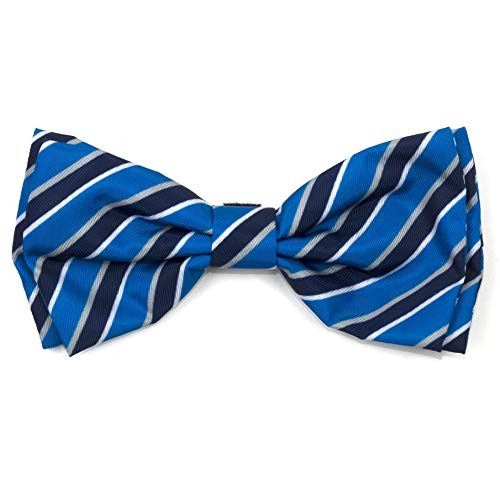 The Worthy Dog Prep Stripe Blue and Black Pattern Comfortable Casual Bow Tie Cute Dog Accessories Fit Small Medium and Large Dogs – Blue Color