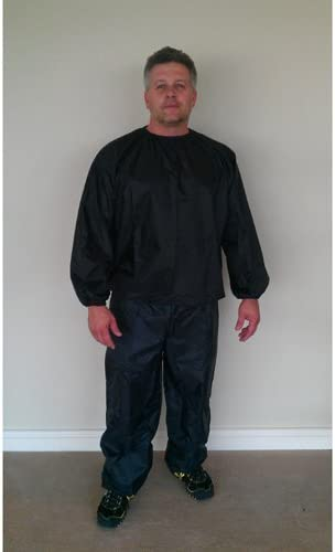 Nylon Black Sauna Suit – 3XL