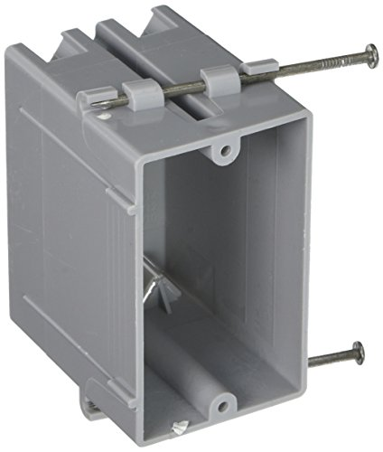 (Hubbell-Raco 7820RAC 3-1/4-Inch Deep Non-Metallic Cable Electrical Box with 4 x NMSC Clamps, Gang and 2 x Captive Nails, 2-1/4-Inch x)