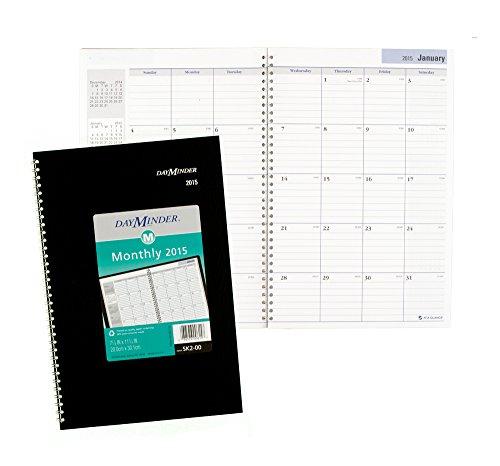 DayMinder Monthly Planner 2015, Wirebound, 7.88 x 11.88 Inch Page Size, Black (SK2-00) Photo #6
