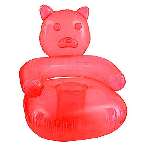 SNInc. Red Inflatable Gummy Bear Chair - Delicious Looking Blow Up Chair ()
