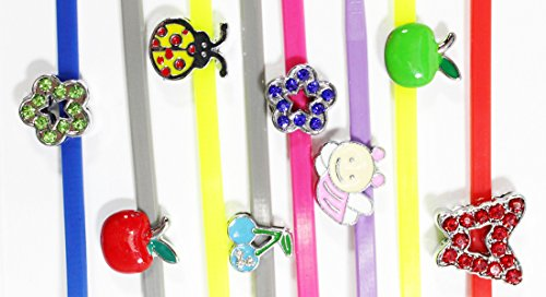 Colorful Poultry Leg Bands with Bling Charms ~ 10 Butterflies, Bugs & More - Frogs Tags Name Fun