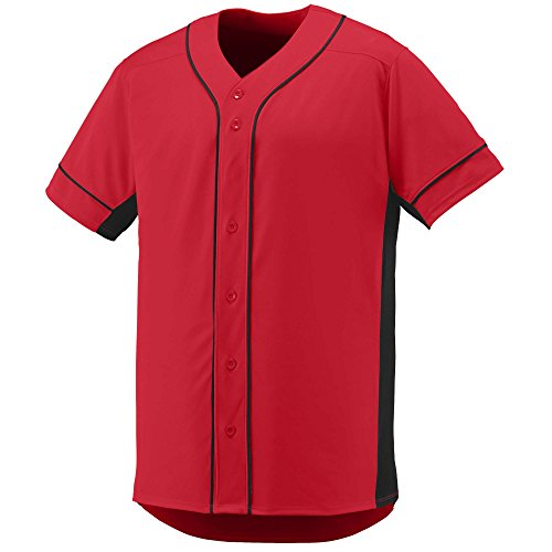 Augusta Sportswear Youth Slugger Jersey S Red/Black (Jersey Outlets)