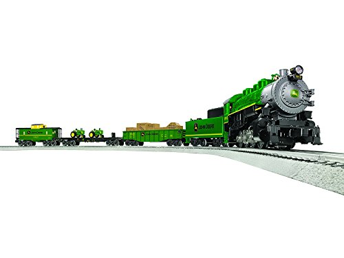 Lionel John Deere Steam LionChief Train Set - O-Gauge - Lionel Fastrack Figure