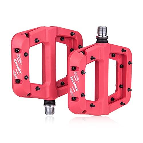 SXCXYG Fiets Pedalen MTB Pedaal Nylon 2 Lager Composiet 9/16 Mountainbike Pedalen Hoge sterkte Non-Slip Fiets Pedalen…