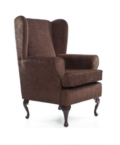 EXTRA WIDE Orthopedic High Seat Chair (21' SEAT HEIGHT) For the Elderly or Infirm- BROWN - OUR BEST SELLER! Firm and comfortable, ideal for the disabled, immobile or people recovering from an operation or accident - ALSO IN GREEN, PLUM, TEAL AND BEIGE
