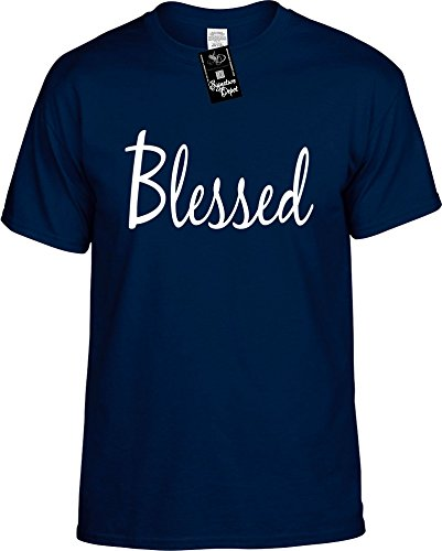 Signature Depot Mens Funny T-Shirt Size L (Blessed (Motivational Shirt) Unisex Shirt