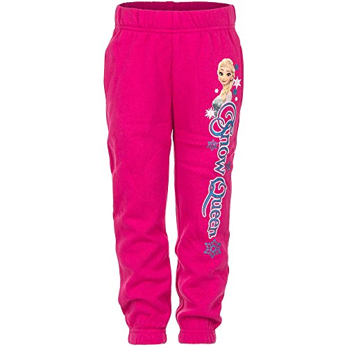 Dress-O-Mat Mädchen Jogginghose Trainingshose Hose Die Eiskönigin Anna & Elsa Gr 116 6 J pink