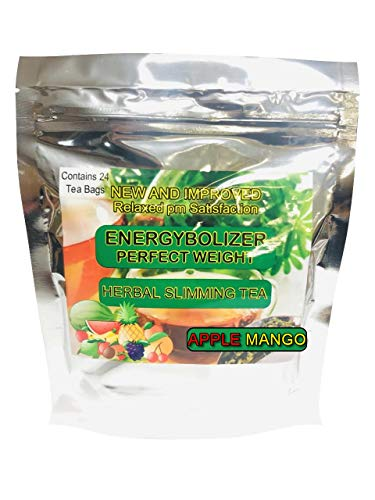 Energybolizer Perfect Weight Herbal Slimming Tea APPLE MANGO FLAVOR. All Natural colon cleanse and complete digestive support.