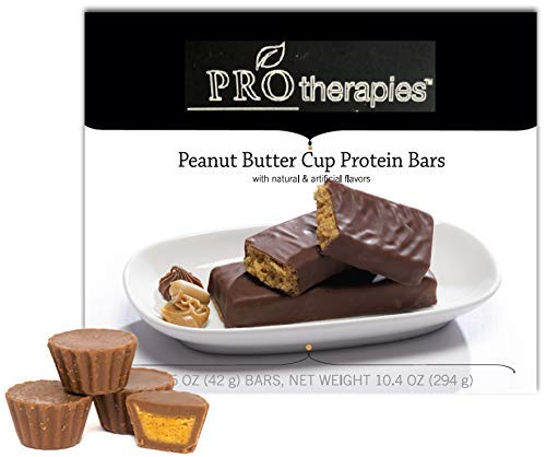 ProTherapies Protein Bar 15g - Low Carb High-Protein Weight Loss Snack Bar for Healthy Diets, Peanut Butter Cup, 7 - High Protein Low Cholesterol