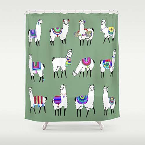 Amazon.com: Alpaca Shower Curtain