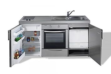 Miniküche Mit Kühlschrank Und Backofen : Edelstahl miniküche kitchenline mkbgsesc mit ks uks