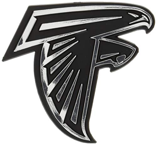 NFL Atlanta Falcons Chrome Automobile Emblem