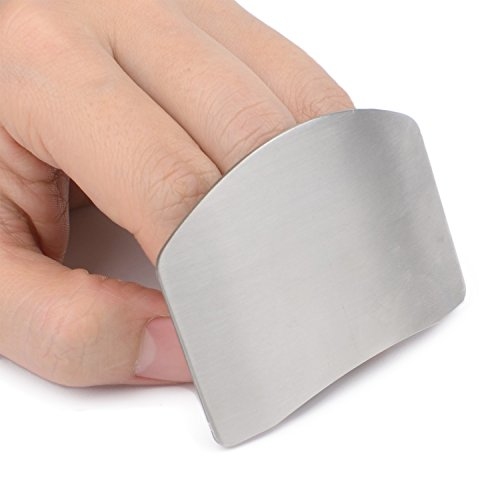 Zelta Finger Guard Digiclass Slicing Cutting Protector 2.6 Inches Stainless Steel Finger Protector Cutting (Finger Guard)