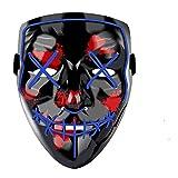 Light up Mask Yostyle Halloween Mask Cosplay Led Costume Mask EL Wire Light