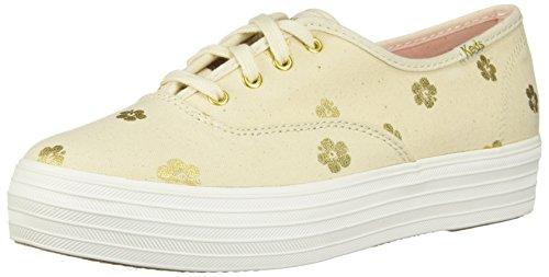 Natural Keds Donna Gold Sneaker Bianco CCTt8nq1