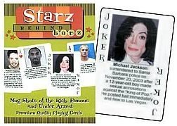 Starz Behind Barz Celebrity Playing Cards Mug Shots
