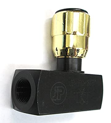 "VA F800S - Dynamic JP-FC-1/2 NPT Flow Control Valve - 1/2"" Female Pipe - 5,000 PSI Max - Alternate Part Number: Parker F800S by Generic"