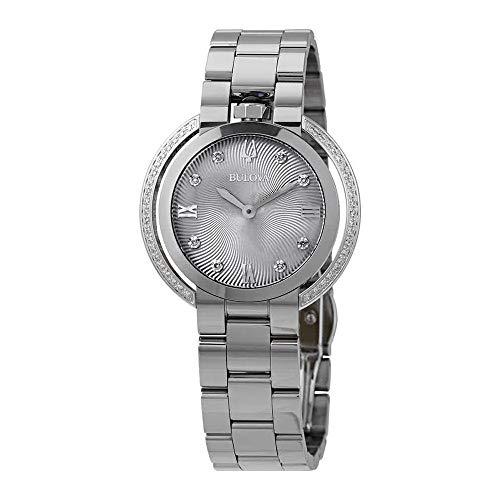 Ladies' Bulova Rubaiyat Diamond Stainless Steel Watch 96R219