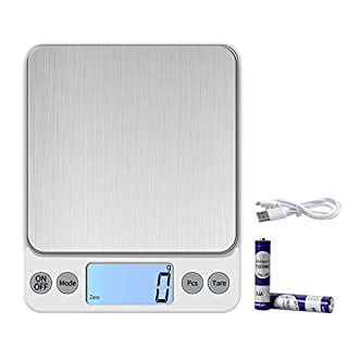 KUBEI Upgraded Larger Size Digital Food Scale Weight Grams and OZ, 10kg/1g Kitchen Scales for Cooking Baking, High Precision Electronic Scale for LCD Display
