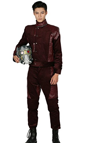 [Star Cosplay Lord Galaxy Vol.2 Costume Deluxe Adult Outfits Halloween S] (Deluxe Gamora Costumes)