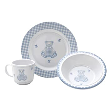 Gingham Bear 3-Piece Dinnerware Set  sc 1 st  Amazon.com & Amazon.com : Gingham Bear 3-Piece Dinnerware Set : Baby Dinnerware ...