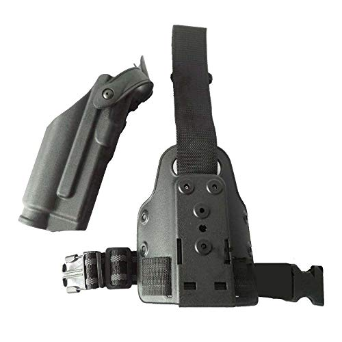 Ace Hunter Quick Release Right Leg Thigh Holster and Tactical Drop Light Bearing M6 TLR-1 Gun Drop Holster for Glock 17 18 19 22 23 26
