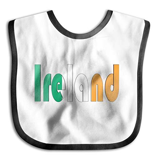 Ireland Flag Letters Baby Drool Bibs Baby Skin Wrap Bib Soft Unisex