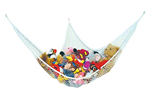 ShellKingdom Toy Hammock,Stretchable Toy Hanging Storage and Organize Net for Stuffed,Animals,Nursery Play,70.8647.2447.24 inches