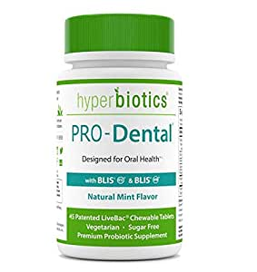 PRO-Dental: Probiotics for Oral & Dental Health—Freshens Breath at Its Source—Top Oral Probiotic Strains Including S. salivarius BLIS K12 & BLIS M18—Sugar Free (Chewable)—45 Day Supply