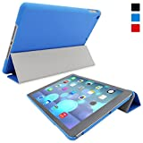 Snugg iPad Air (iPad 5) Ultra Thin Smart Case in Electric Blue - Flip Stand Cover with Auto Wake and Sleep for Apple iPad Air (iPad Air 2013)