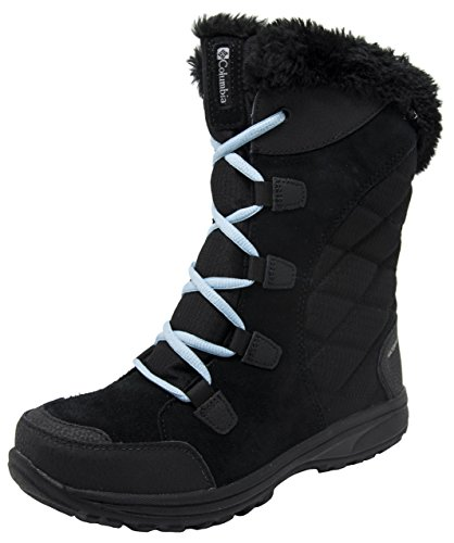 Columbia Women's Ice Maiden II Snow Boot (10 B(M) US, Black/Oxygen)