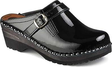 02f472204b8 Troentorp Women s Donatello Clogs Black Patent 37